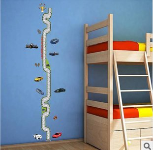 The Road Car Children Bedroom Height Stickers front-601869