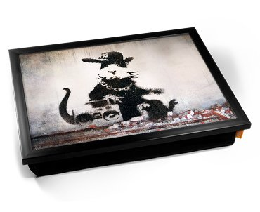 Banksy Rap Rat Cushion Lap Tray