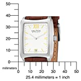 Nautica Men's N07545 Leather Square Analog  Watch