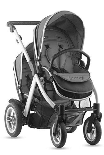 JOOVY Too Qool Silver Double Tandem Stroller - 1