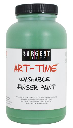Sargent Art 22-9466 16-Ounce Art Time Washable Finger Paint, Green