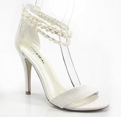 Pearl Anklet Off White Bridal Wedding Formal Sandals