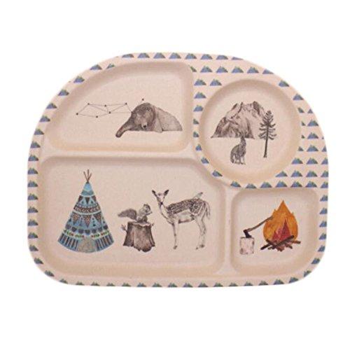 Kids Toddler Divided Plates/ Baby Feeding Utensils/ Tableware Sets-05