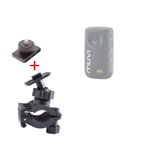 duragadget-secure-clamp-on-road-bike-camcorder-mount-standard-tripod-mount-for-veho-vcc-005-muvi-hdn