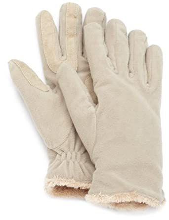 Isotoner Women's Stretch Fleece Glove With Microluxe Lining, Camel, One Size