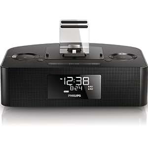 Philips AJ7260D/05 USB MP3 FM Digital Clock Radio Docking Speaker with 30-Pin and Lightning Connector
