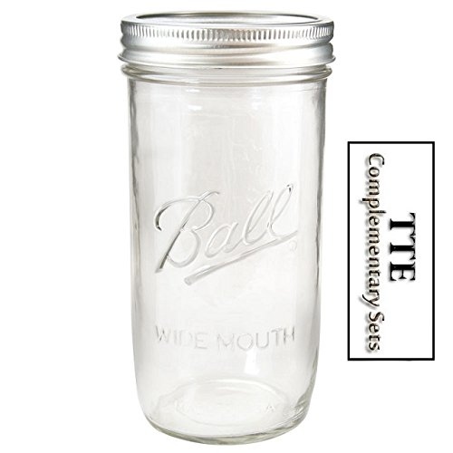 Single 24oz Wide Mouth 1.5 Pint Ball® Mason Jar Canning w/ Lid & Band For Preserving & Freezing