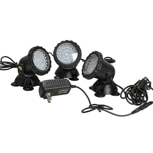 Vktech 36 Led Underwater Colorful Spot Light 1 To 3 For Aquarium Pond Pool Tank