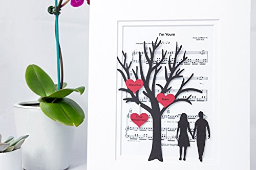 Personalized First Anniversary Or Wedding Gift