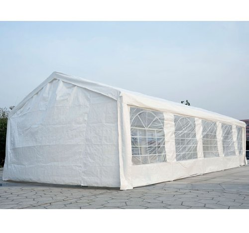 Outsunny 32' x 13' Heavy Duty Outdoor Party Tent / Carport - White at Sears.com