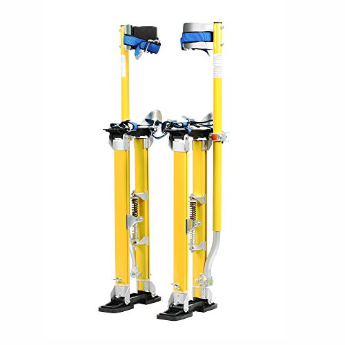 Factory Refurbished Pentagon Tool Mag Pros Magnesium 24-40 Yellow Drywall Stilts