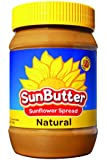 SunButter Natural Sunflower Seed Spread, 16-Ounce Plastic Jars (Pack of 6)