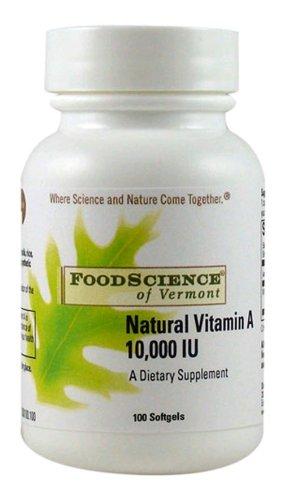Natural Vitamin A 10,000 Iu 100 Capsules