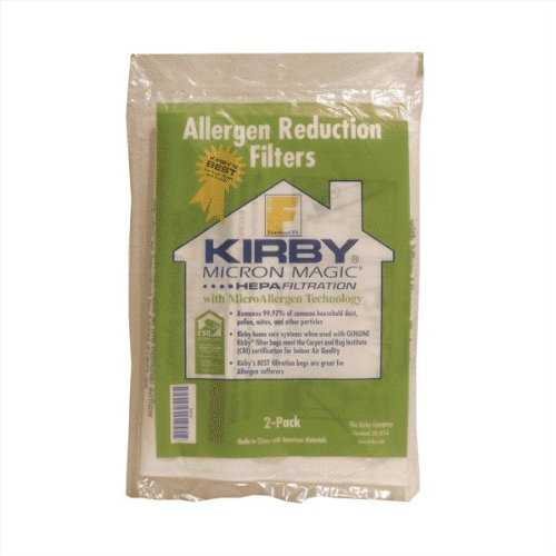 Kirby Allergen Reduction Filters F Series Vacuum Bags - 2/Pk papr reduction