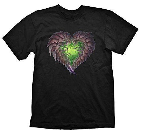 StarCraft 2 - T-Shirt Zerg Heart tratta dal gioco - Maglietta in cotone - Nero - XXL