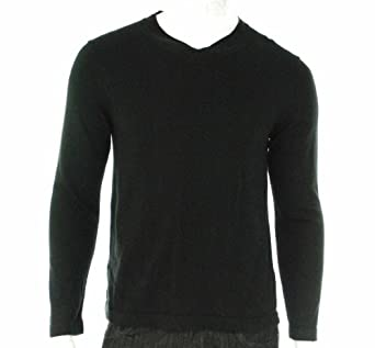 Alfani Supima Black V-Neck Sweater , Size Small