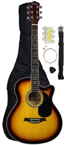 Barcelona Brio Series Cutaway Acoustic Guitar With Accessories - Sunburst