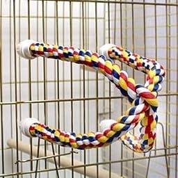 Aspen Pet Booda Comfy Perch Multicolor 25in Cross Small Bird Toy \