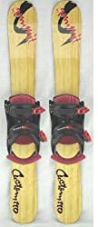 Summit Custom 110cm Skiboards Snowblades w. Snowboard Bindings 2012
