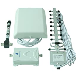 Powerful 1700MHz 65db Gain 3g AWS Cell Phone Booster Repeater Extenders Full Kit for Home or Office -With 2 Indoor Panel Directional and Outdoor Yagi Antennas