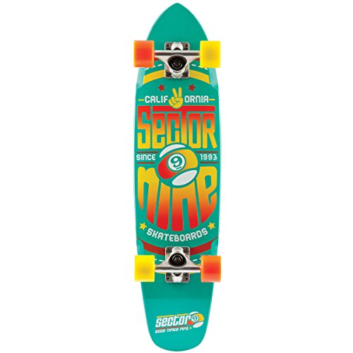 Sector 9 The Wedge Complete Skateboard, Teal