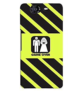 PRINTVISA Wedding Funny Case Cover for Micromax A350 Canvas Knight