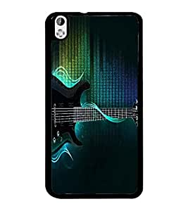 PrintDhaba Guitar D-2885 Back Case Cover for HTC DESIRE 816 (Multi-Coloured)