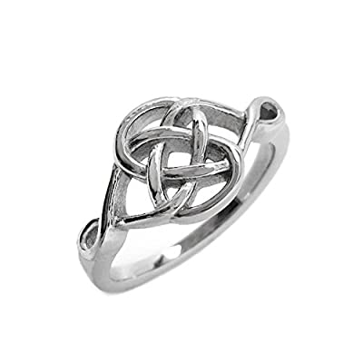 Stainless Steel Celtic Knot Love Promise Committment Ring