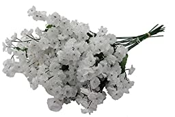 Admired by Nature AJ331-WHITE Artificial Full Blooming Baby Breath Flowers Spray44; White