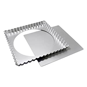 Fat Daddio's 12 Inch x 12 Inch x 1 Inch Square Tart Pan with Removable Bottom by Fat Daddios