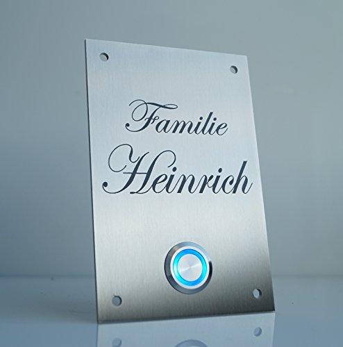 chrisck-design-heinrich-plaque-de-sonnette-en-acier-inoxydable-avec-bouton-led-ex-bleu-blanc-et-nom-