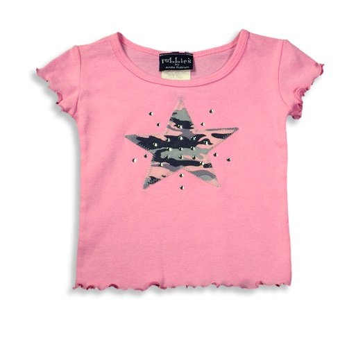 Rubbies - Baby Girls Short Sleeve Camoflague Star Tee Shirt, Pink - Buy Rubbies - Baby Girls Short Sleeve Camoflague Star Tee Shirt, Pink - Purchase Rubbies - Baby Girls Short Sleeve Camoflague Star Tee Shirt, Pink (Rubbies, Rubbies Apparel, Rubbies Toddler Girls Apparel, Apparel, Departments, Kids & Baby, Infants & Toddlers, Girls, Outerwear & Activewear)