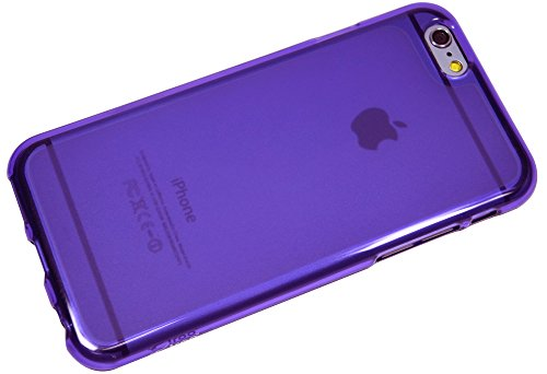 Iphone6 Case, Apple Iphone 6 Matt Aqua, Mobile Soft Jelly Case - Retail Packaging (Violet)