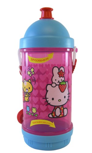 Sanrio Hello Kitty Water Bottle - Sport Top and Snack Holder