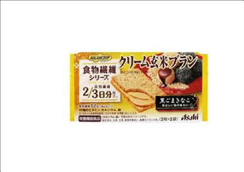 <お得な24個パック>バランスアップ クリーム玄米ブラン 食物繊維シリーズ 黒ごまきなこ 2枚×2個 お得な24個パック