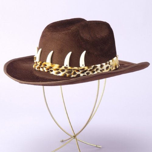 Cowboy Hat with Teeth - Brown Adult (Standard One-Size)