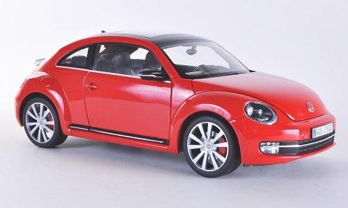 VW Beetle, rot/schwarz , 2012, Modellauto, Fertigmodell, Welly 1:18