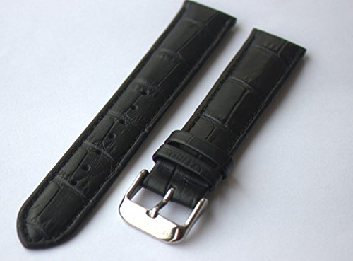 Seagull Genuine Leather Watch Band 20Mm Black