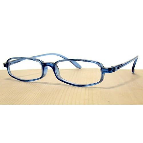 純日本製 やわらかシニアグラス(老眼鏡)SABAE シリーズ【オーシャン・ブルー】鯖江製メガネ・JAPAN 度数:+1.50