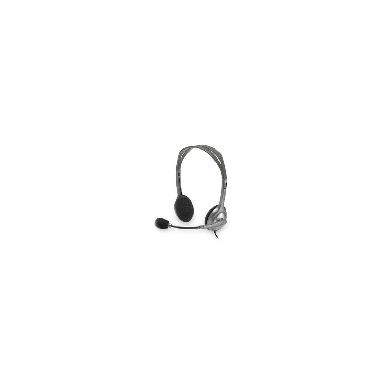 Logitech H110 Headset Stereo Over-The-Head Binaural Semi-Open Mini-Phone Noise Canceling
