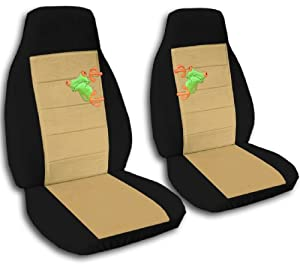 2 black and tan frog seat covers for a 2007 to 2012 ford fusion side airbag. Black Bedroom Furniture Sets. Home Design Ideas
