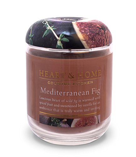 Heart & Home Large Glass Mediterranean Fig Candle