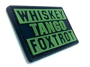 Whiskey Tango Foxtrot WTF Brille Dans le Noir PVC Airsoft Velcro Patch