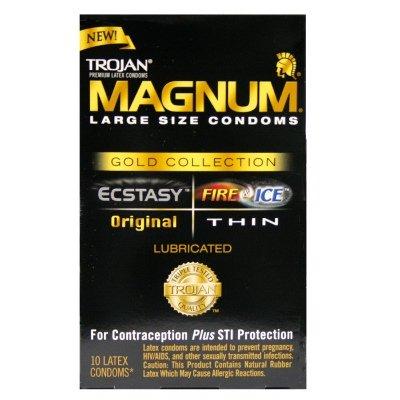 Trojan MAGNUM Gold Collection Condoms 100-Pack