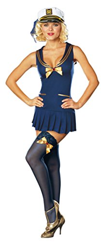 Dreamgirl Womens Seaside Pinup Sailor Outfit Fancy Dress Sexy Costume