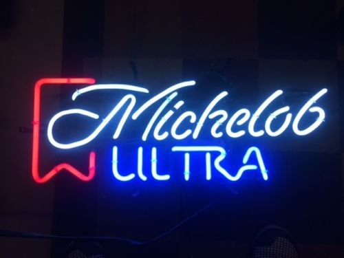 Sweet Vintage Michelob Ultra Handcrafted Real Glass Neon Light Sign Home Beer Bar Pub Sign 19x12 inches.The Best Offer!Super Bright!