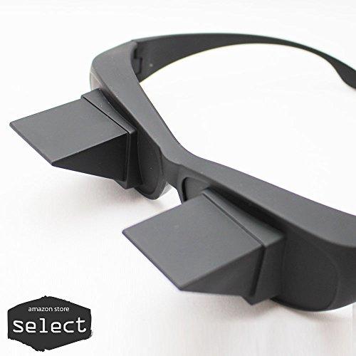 select(セレクト) 寝ながら 反射メガネ便利 プリズムメガネ 仰向けで寝ながら スマホ 読書 TV 映画 メガネ 怠け者眼鏡 老眼鏡 近視眼鏡 兼用 使える ミラー 鏡 動画 電子書籍 タブレット