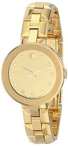 Movado Women's 0606816 Sapphire Analog Display Swiss Quartz Gold Watch