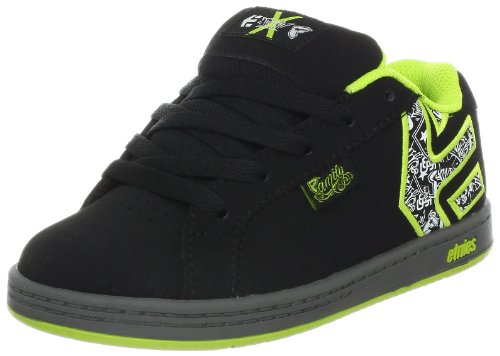 Etnies Fsas X Twitch Fader Black/Green/White Fashion Sports Skate Shoe 4307000113 1 UK Infant
