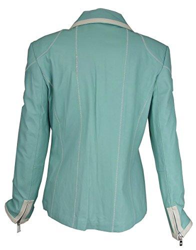 Johnnyblue Genuine Blue Sheepskin Leather Jackets S Size Soft Light Lamb S Size